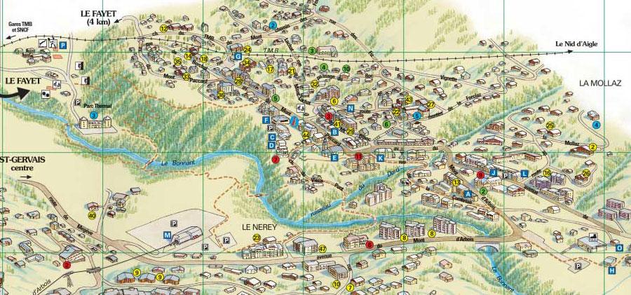 Map saint gervais mont blanc - Office du tourisme st gervais les bains ...
